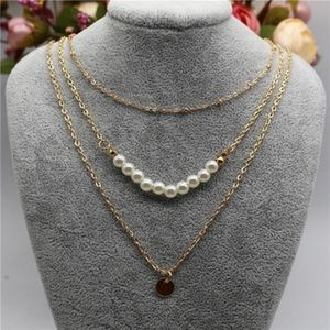 Jewelry - PREVIEW Pearl & Coin Triple Layer Choker Necklace